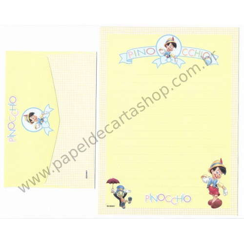 Conjunto de Papel de Carta Disney Pinocchio CAM