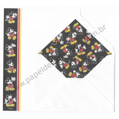 Conjunto de Papel de Carta Antigo Importado Disney Mickey Mouse (BRA)