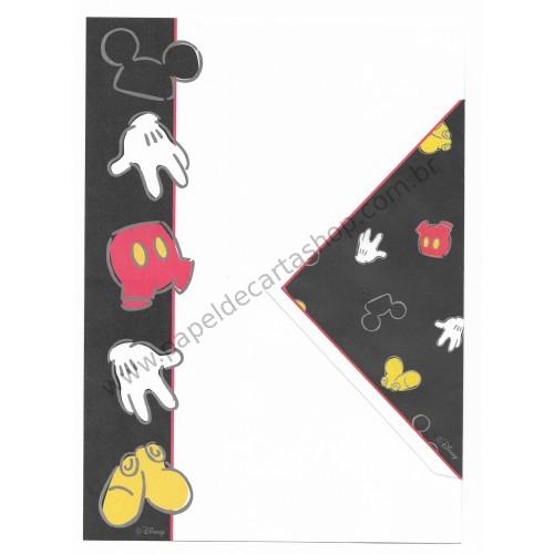 Conjunto de Papel de Carta Antigo Importado Disney Mickey Mouse (BRA2)