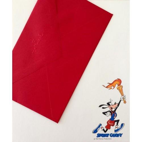 Conjunto de Papel de Carta Antigo Importado Disney Sport Goofy - Hallmark