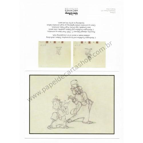 Coleção 10 NOTECARDS CARTÕES Disney Archives Pinocchio