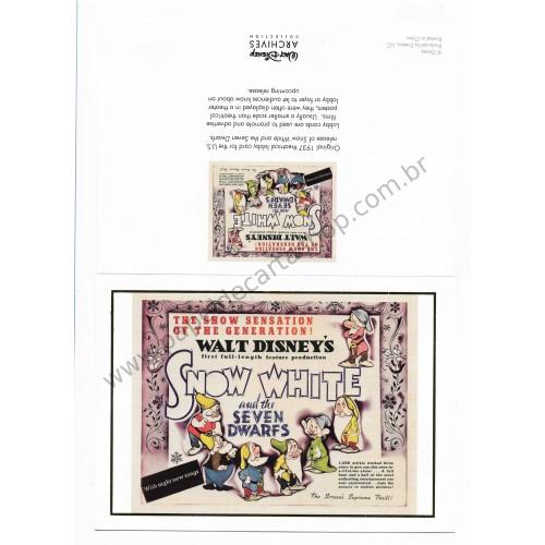 Coleção 10 NOTECARDS CARTÕES Disney Archives SNOW WHITE