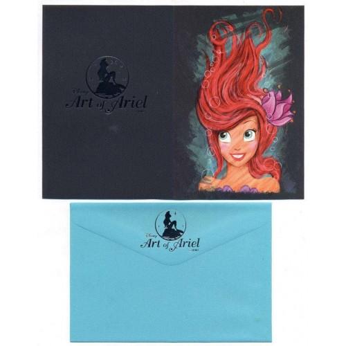 Coleção 3 NOTECARDS CARTÕES Disney Art of ARIEL