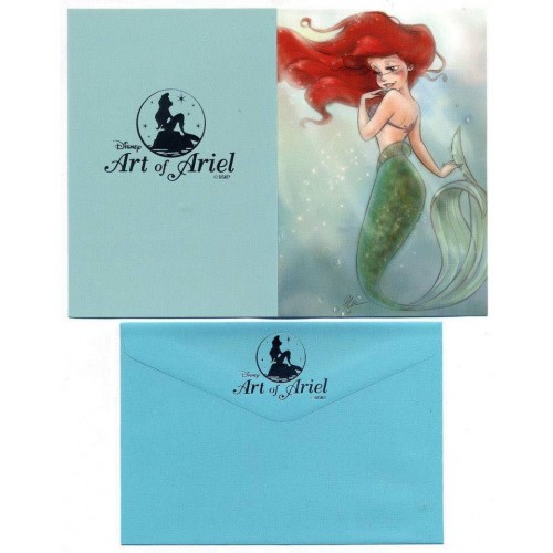 Coleção Disney Art of ARIEL - 3 Collectible Notecards