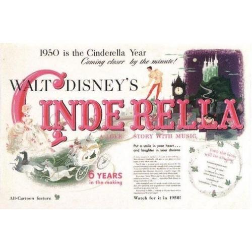 Coleção 5 NOTECARDS CARTÕES Disney Cinderella