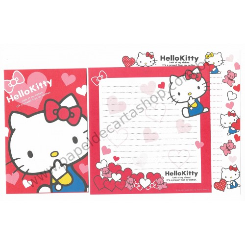 Ano 2013. Conjunto de Papel de Carta Hello Kitty Dupla Sanrio Japan