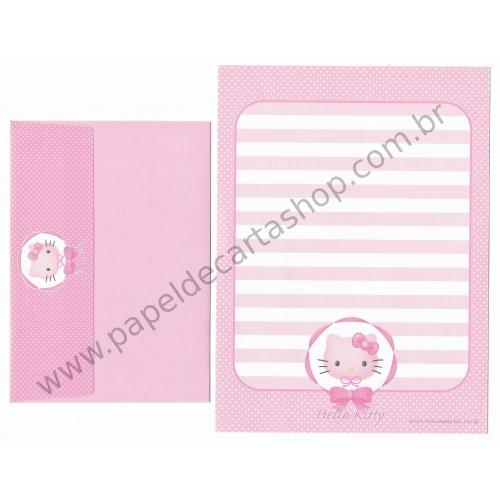 Ano 2008. Conjunto de Papel de Carta Hello Kitty Ribbon CRS Sanrio