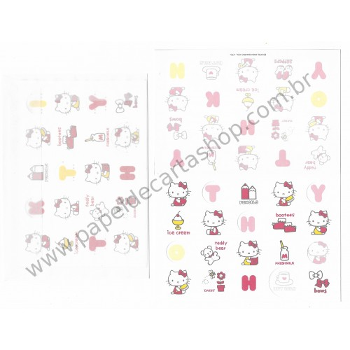 Ano 2004. Conjunto de Papel de Carta Hello Kitty HKT Sanrio