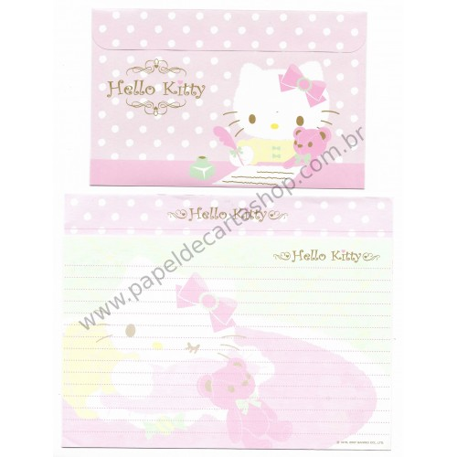 Ano 2007. Conjunto de Papel de Carta Hello Kitty CRV Sanrio