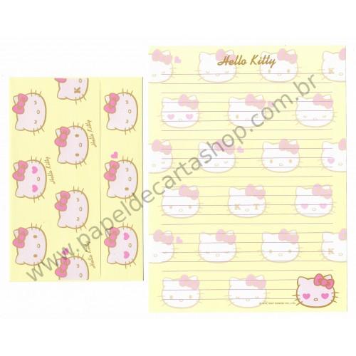 Ano 2007. Conjunto de Papel de Carta Hello Kitty KT CAM Sanrio