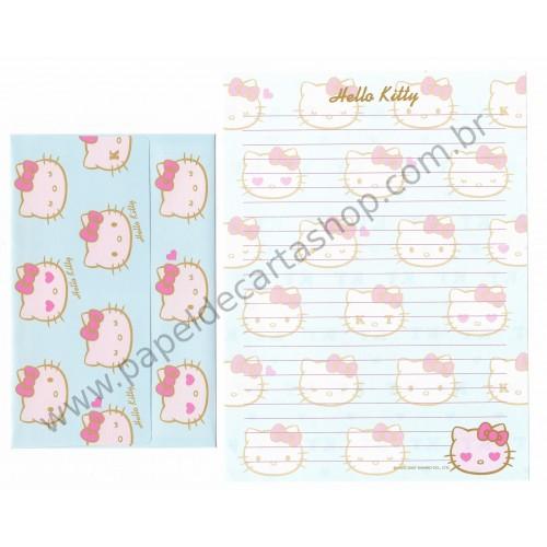 Ano 2007. Conjunto de Papel de Carta Hello Kitty KT CAZ Sanrio