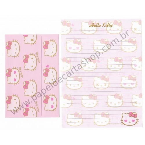 Ano 2007. Conjunto de Papel de Carta Hello Kitty KT CRS Sanrio