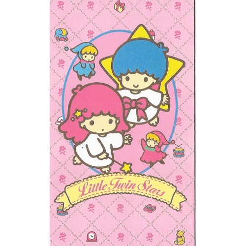 Ano 1989. Mini-Envelope Little Twin Stars Vintage Sanrio