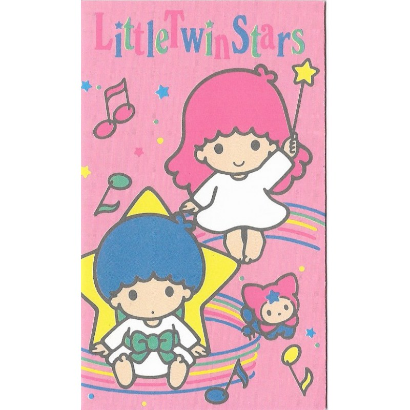Ano 1990. Mini-Envelope Little Twin Stars Vintage Sanrio