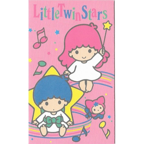 Ano 1990. Mini-Envelope Little Twin Stars Vintage Sanrio