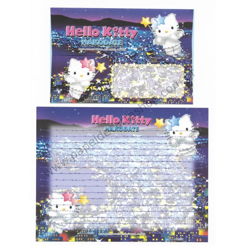 Ano 2003. Conjunto de Papel de Carta Gotōchi Kitty Hakodate Sanrio