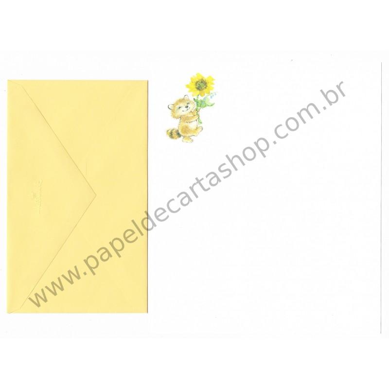 Conjunto de Papel de Carta Importado Gatinho CAM - Hallmark