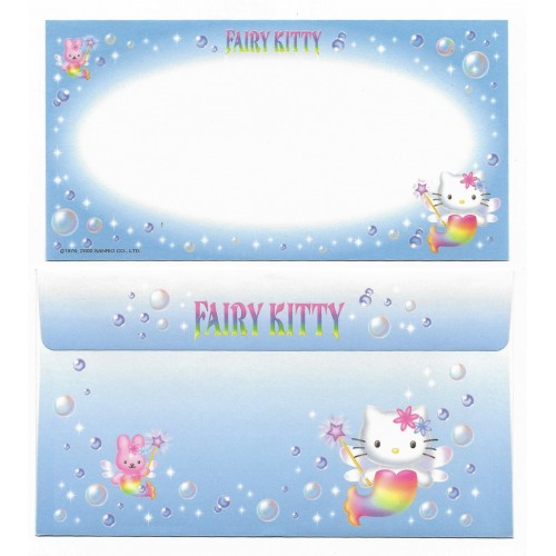 Ano 2000. Conjunto de Papel de Carta Hello Kitty Fairy Kitty P2 Sanrio