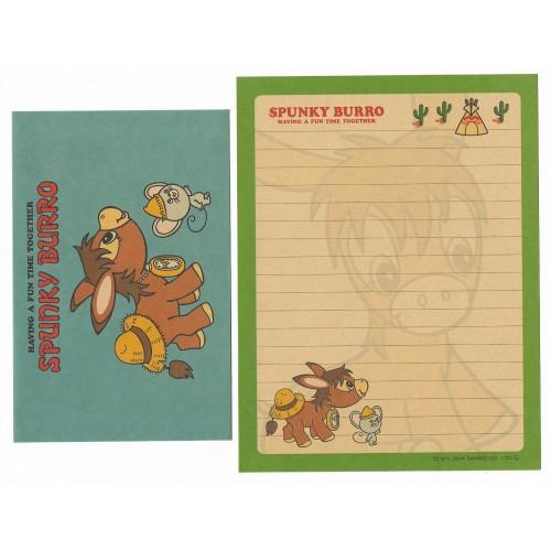 Ano 2004. Conjunto de Papel de Carta Spunky Burro CAZ Antigo (Vintage) Sanrio