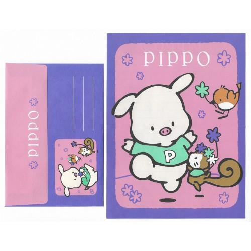 Ano 1995. Conjunto de Papel de Carta Pippo Antigo (Vintage) Sanrio