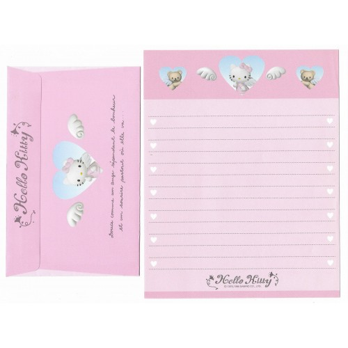 Ano 1999. Conjunto de Papel de Carta Hello Kitty CRS Antigo (Vintage) Sanrio