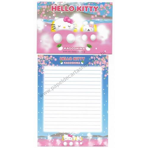 Ano 2001. Conjunto de Papel de Carta Gotōchi Kitty KAGOSHIMA Sanrio