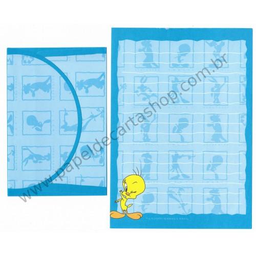 Conjunto de Papel de Carta ANTIGO Tweety Looney Tunes CAZ