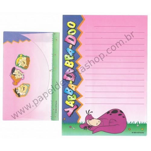 Conjunto de Papel de Carta ANTIGO HB Os Flintstones YABBA-DABBA-DOO CRS