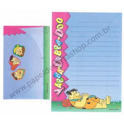Conjunto de Papel de Carta ANTIGO HB Os Flintstones YABBA-DABBA-DOO CAZ