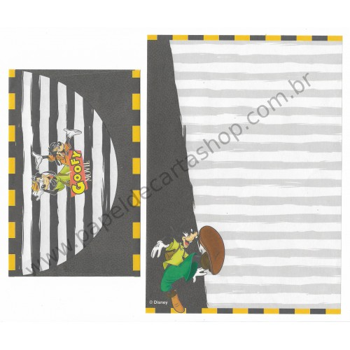 Conjunto de Papel de Carta ANTIGO Personagens Disney GOOFY Movie