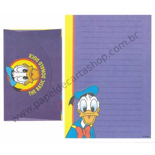 Conjunto de Papel de Carta ANTIGO Personagens Disney Basic DONALD DUCK