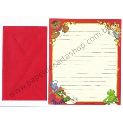 Conjunto de Papel de Carta Antigo Importado Muppets CVM - Hallmark