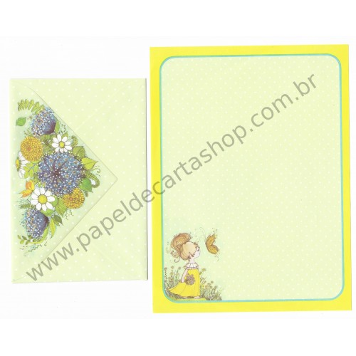 Conjunto de Papel de Carta Antigo Importado Favorite Things CAM - Mead