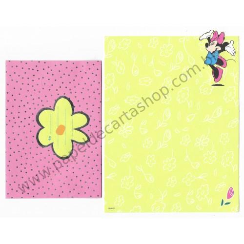Conjunto de Papel de Carta Disney Minnie Flower CAM - Disney