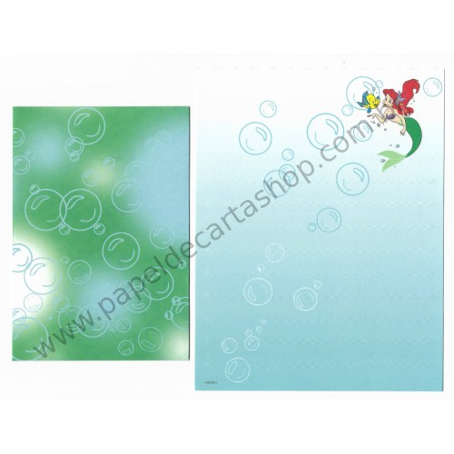 Conjunto de Papel de Carta Disney Little Mermaid - Disney