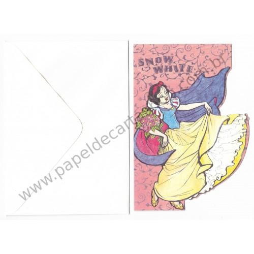 Cartão Antigo Vintage Importado Disney - Snow White