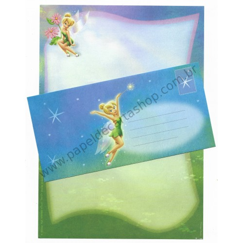 Conjunto de Papel de Carta Antigo Vintage Disney Tinker Bell (VD) - Creative Words