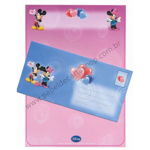 Conjunto de Papel de Carta Antigo Vintage Disney Mickey & Minnie (LL) - Creative Words