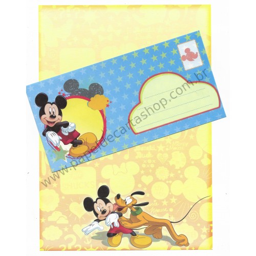 Conjunto de Papel de Carta Antigo Vintage Disney Mickey & Friends (AM) - Creative Words