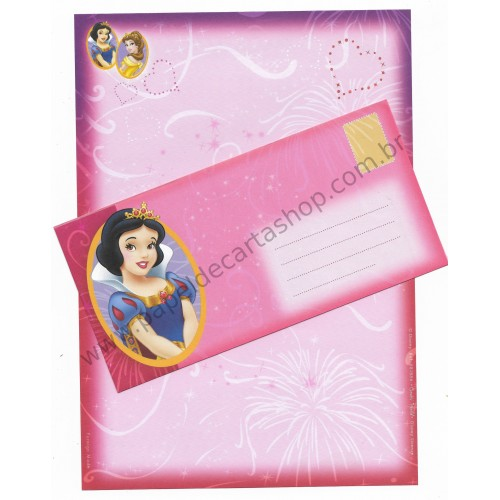 Conjunto de Papel de Carta Antigo Vintage Disney Princess (LL) - Creative Words