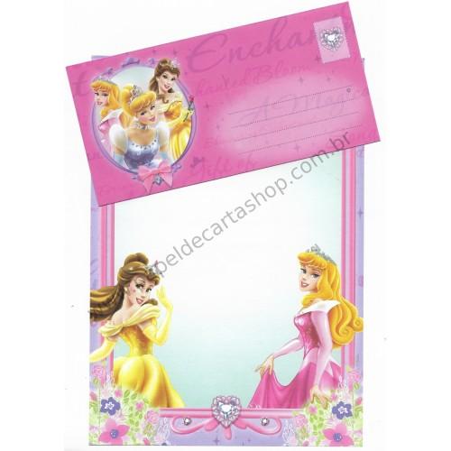 Conjunto de Papel de Carta Antigo Vintage Disney Princess (AZ) - Creative Words