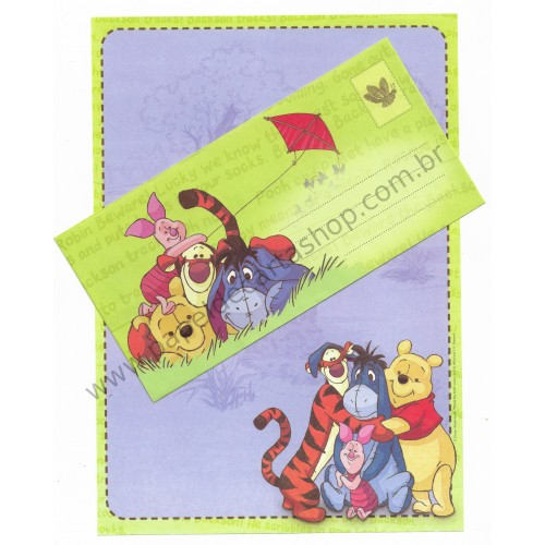 Conjunto de Papel de Carta Antigo Vintage Disney POOH (AM) - Creative Words