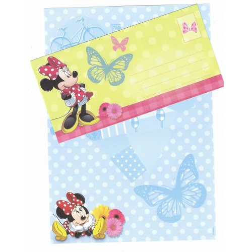 Conjunto de Papel de Carta Antigo Vintage Disney Minnie Mouse (AZ) - Creative Words