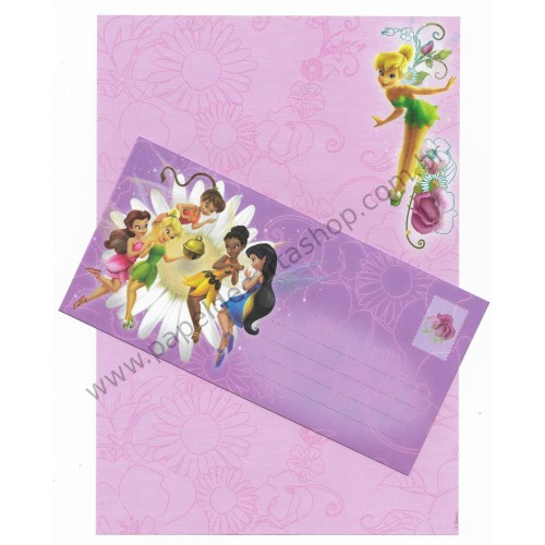 Conjunto de Papel de Carta Antigo Vintage Disney Fairies (LL) - Creative Words