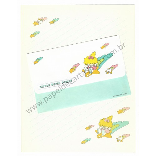 Conjunto de Papel de Carta Antigo (Vintage) Little Witch Pickle - San-X Japan