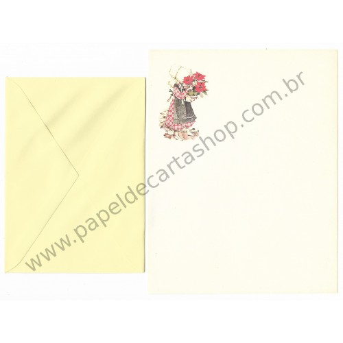 Conjunto de Papel de Carta ANTIGO Holly Hobbie M64