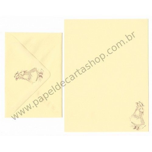Conjunto de Papel de Carta ANTIGO Holly Hobbie M66