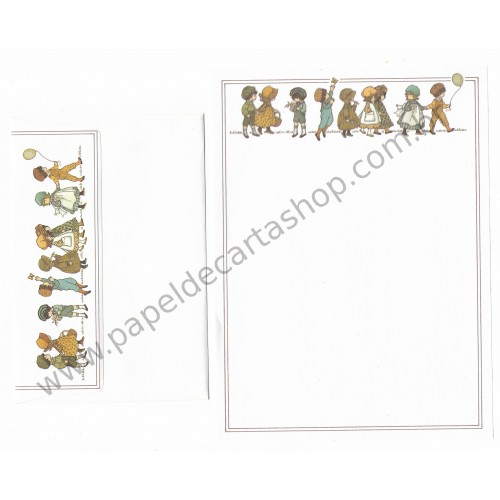Conjunto de Papel de Carta ANTIGO Holly Hobbie M67