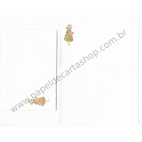 Conjunto de Papel de Carta ANTIGO Holly Hobbie M69