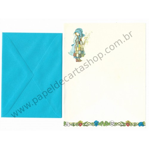 Conjunto de Papel de Carta ANTIGO Holly Hobbie M71